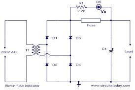blown fuse indicator circuit electronic circuits and diagram