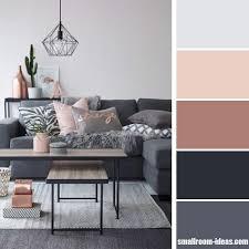 Pink Living Room Ideas Dark Grey And Pastel Pink Living Room Color Scheme U2013 Small Room Ideas