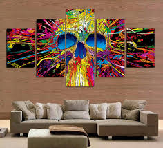 Cheap Decor For Home Online Get Cheap Colorful Skull Art Aliexpress Com Alibaba Group