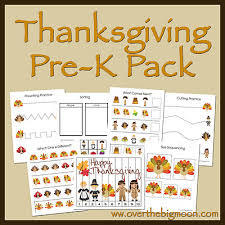 thanksgiving pre k pack over the big moon