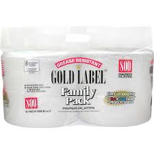paper plates gold label 9 paper plate 800 ct