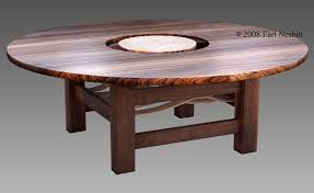 Custom Made Round Dining Table Zebrawood Walnut Curly Maple By - Maple kitchen table
