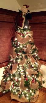 santa themed tree rustic tree