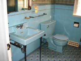 Vintage Bathroom Tile Ideas Colors Replicating Alice U0027s Blue 50s Bathroom Tile Floor 50s Bathroom