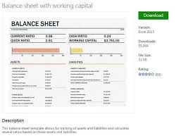 assets and liabilities form excel balance sheet template excel