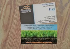 Landscape Business Cards Design Graphic Design Pr Consulting News