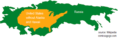 map russia to usa what are some practical exles that show how big russia is quora