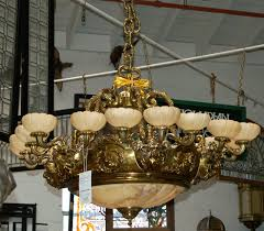 Victorian Chandelier For Sale Ornate 19th C Bronze Victorian Chandelier With Alabaster Shades