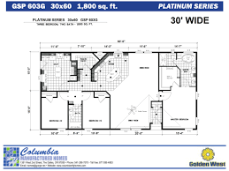 columbia manufactured homes golden west platinum series floorplans