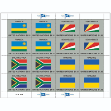 Flags Of Nations Images 2018 Flag Series Sheet 54 Un Stamps