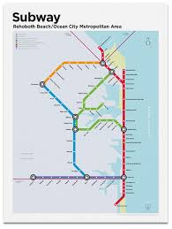 Ocean City Md Map Rehoboth Ocean City Subway Map U2013 Transit Authority Figures