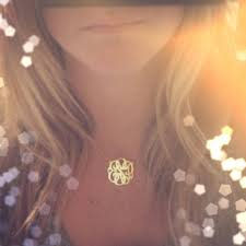 Gold Monogram Necklace Best Small Gold Monogram Necklace Products On Wanelo