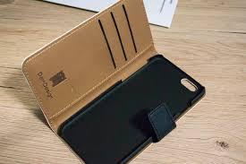 dein design test blue vintage for iphone 6 sideflip bag deindesign