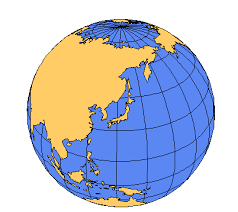 us map globe japan pacific global projection powerpoint map maps for design