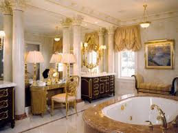 Gold Vanity Mirror Elegant Gold Bathroom With Mirror Wall This Spacious Elegant