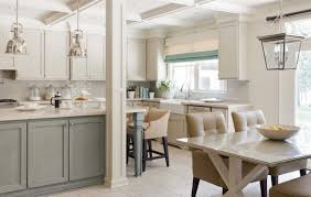 Gray Shaker Kitchen Cabinets Gray Green Cabinets Kitchen This One Is A Bit Reverse But How