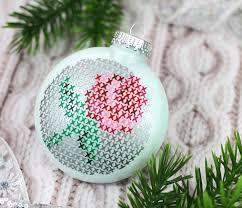 the craft patch diy vinyl cross stitch ornament
