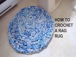Denim Rag Rugs How To Crochet A Rag Rug Recycle Project Youtube