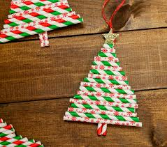 simple paper straw ornaments our three peas