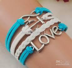 multi bracelet images 2018 multi strand blue amp white leather bracelet with infinity jpg