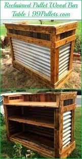 patio ideas diy outdoor bar plans diy reclaimed pallet wood bar