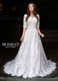 Modest Wedding Dress Modest Wedding Dresses Tr11835 Mon Cheri Bridals