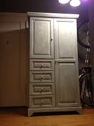 homemade chalk paint ugly thrift store armoire becomes shabby