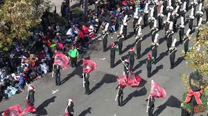 cary hs marching band in raleigh parade 2017