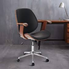 Wooden Frame Armchair Life Carver Modern Wooden Frame Leather Padded Executive Desk