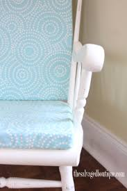 Baby Blue Cushions Grandpa U0027s Rocking Chair Brightened Up For New Baby Nursery The