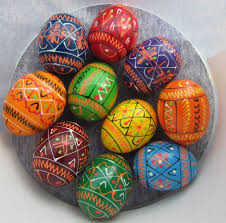 wooden easter eggs pysanka 10 ukrainian wooden easter eggs colorful small ebay