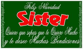imagenes de navidad hermana tarjeta de navidad para hermana imagenes postales y tarjetas