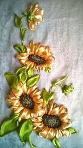 sunflower ribbon sunflowers ribbonembroidery ribbon embroidery