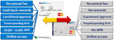 prepaid debit card no fees paypal debit card vs paypal credit card what s the difference