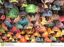 turkish decorative colorful lamps royalty free stock photos