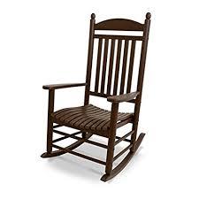 Recycled Plastic Patio Furniture Amazon Com Polywood Outdoor Furniture Jefferson Rocker Mahogany