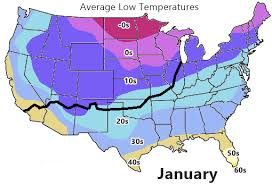 temperature map usa january weather on route 66