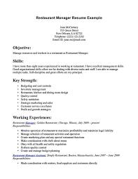 sle resume for cleaning supervisor responsibilities restaurant resume for restaurant manager restaurant manager resume will ease