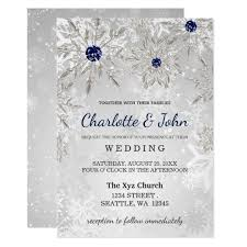 silver wedding invitations silver navy snowflakes winter wedding invitation zazzle