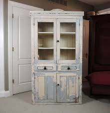 rustic reclaimed barn wood china cabinet ebth