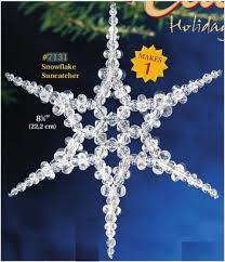 best 25 beaded snowflake ideas on beaded
