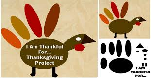 what i m thankful for turkey project thanksgiving gratitude