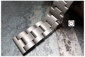 solid stainless steel bracelet images Super oyster stainless steel watch band metal 18 20 22 24mm widths jpg