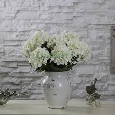 Diy Vase Decor 2017 Artificial Hydrangea Flowers 5 Branches Bouquet Home Office