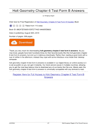 fillable online allithey vateapartyalliance holt geometry chapter