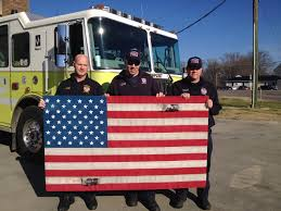 How To Display American Flag On Wall Station Project Firehose Flag U2013 Model City Firefighter