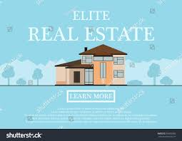 vector illustration cute houses rent sale stock vector 596652083
