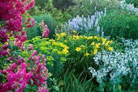 large flower garden care