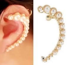 left side earring fd1447 classic rock retro pearl cuff warp earring ear clip