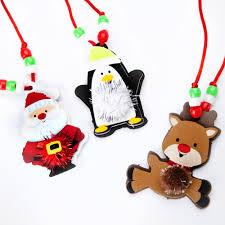 christmas pom pom necklace festive necklace kit craft necklace